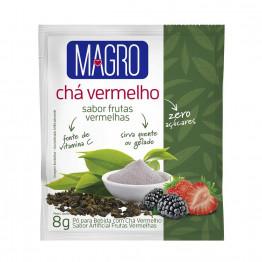 Display com 15 Unidades Chá Vermelho Magro Sabor Frutas Vermelhas Zero Açúcares de 8g