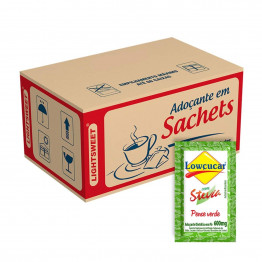 Adoçante Lowçucar Plus com Stevia Caixa com 1000 x 0,6G