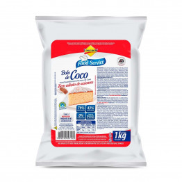 Bolo Lowçucar Sabor Coco 1kg