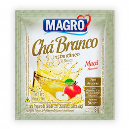 Chá Branco Magro Sabor Maçã Zero Açúcares Display com 15 Unidades de 8g
