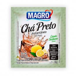 Chá Preto Magro Sabor Limão Siciliano Zero Açúcares Display com 15 Unidades de 8g