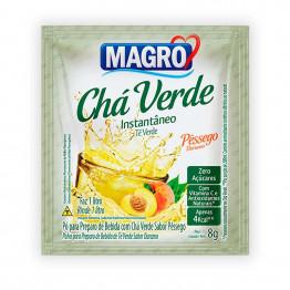 Chá Verde Magro Sabor Pêssego Zero Açúcares Display com 15 Unidades de 8g