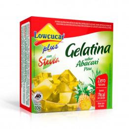 Gelatina Lowçucar Plus com Stevia Sabor Abacaxi 10g
