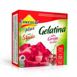 Gelatina Lowçucar Plus com Stevia Sabor Cereja 10g