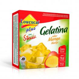 Gelatina Lowçucar Plus com Stevia Sabor Manga 10g