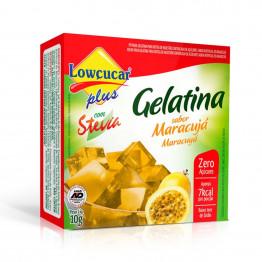 Gelatina Lowçucar Plus com Stevia Sabor Maracujá 10g