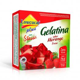 Gelatina Lowçucar Plus com Stevia Sabor Morango 10g