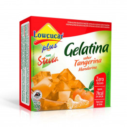 Gelatina Lowçucar Plus com Stevia Sabor Tangerina 10g