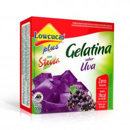 Gelatina Lowçucar Plus com Stevia Sabor Uva 10g