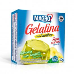 Gelatina Magro com Sucralose Sabor Abacaxi com Hortelã 10g
