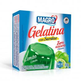 Gelatina Magro com Sucralose Sabor Limão 10g