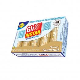 Gli-Instan Lowçucar Sabor Guaraná Glicose Instantânea display com 12 cartuchos de 5 unid de 15g