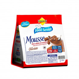 Mousse Lowçucar Zero Açúcares Sabor Chocolate 210g