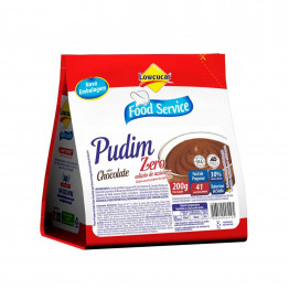 Pudim Lowçucar Zero Açúcares Sabor Chocolate 200g