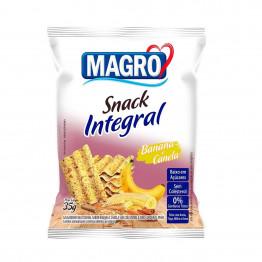 Snack Integral Magro Sabor Banana e Canela 35g